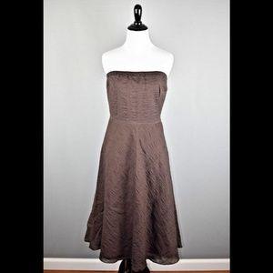 J.Crew Embossed Lorelei Strapless Dress